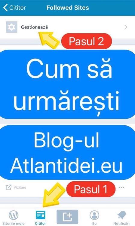 Cum să urmărești blogul Atlantidei.eu și pe Wordpress